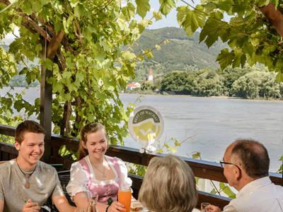 Terrasse mit Donaublick
