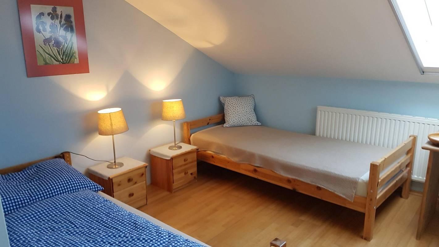 Doppelzimmer hellblau