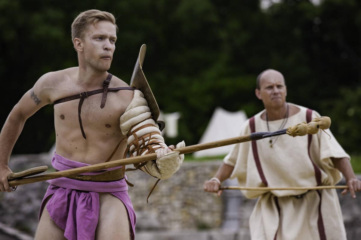 Gladiatoren im Amphitheater Militärstadt