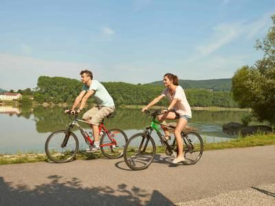 Radfahrer im Nibelungengau