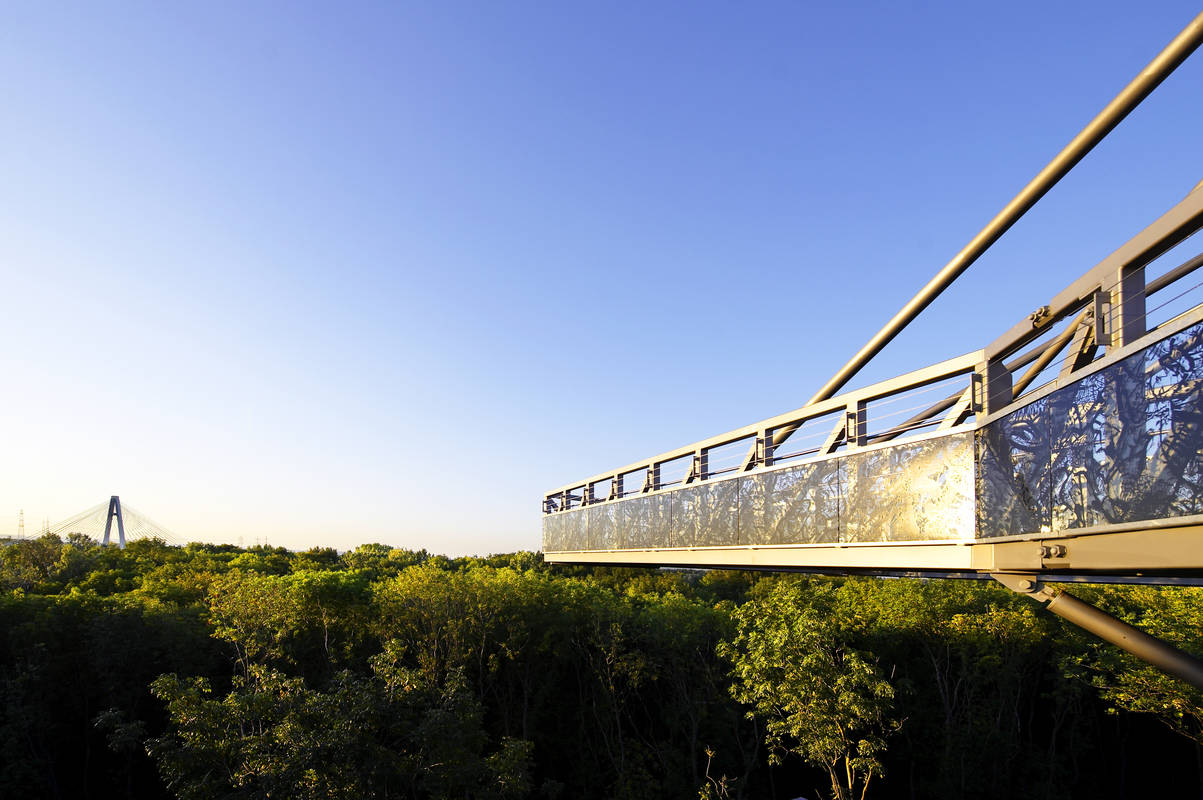 Baumwipfelweg am Gelände der GARTEN Tulln