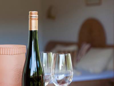 Weinflasche im Zimmer