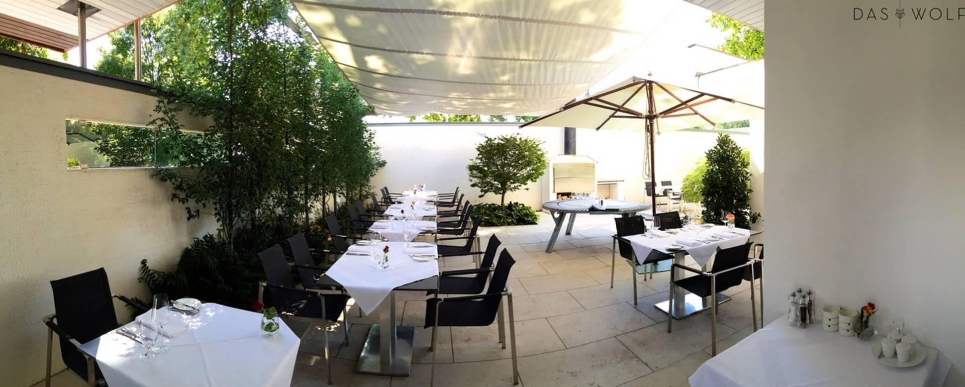 Das Wolf Restaurant, Gastgarten