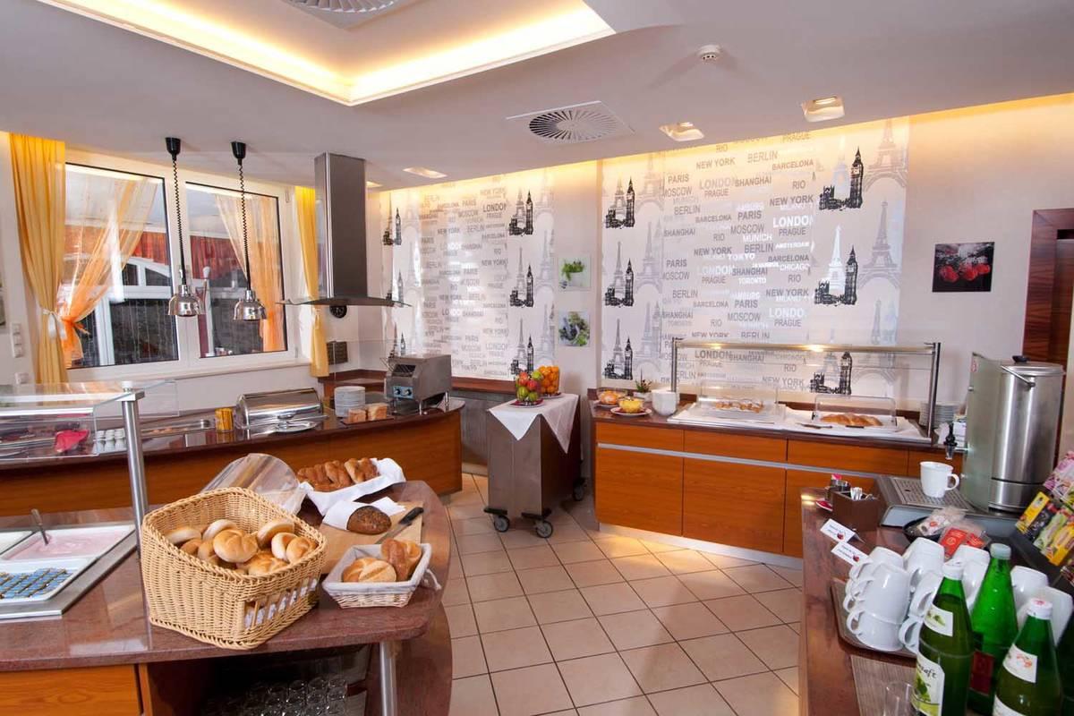 Frühstücksraum im City Hotel Stockerau
