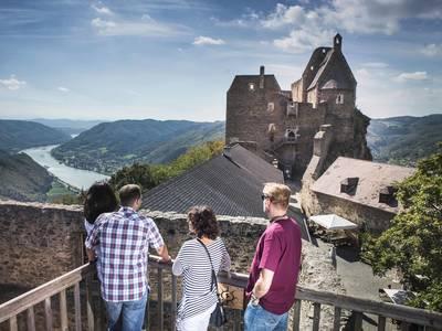 Ausblick von der Burgruine Aggstein