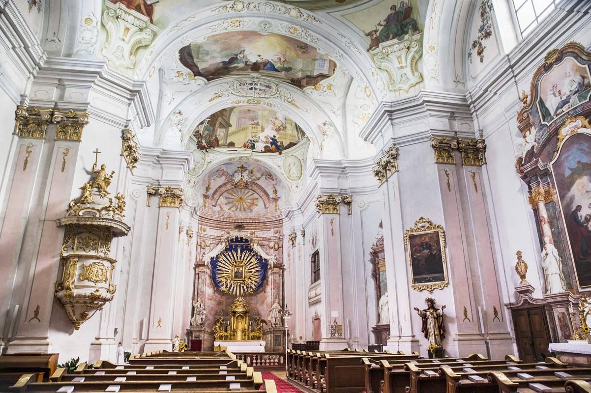 Wallfahrtskirche Maria Langegg Innenansicht