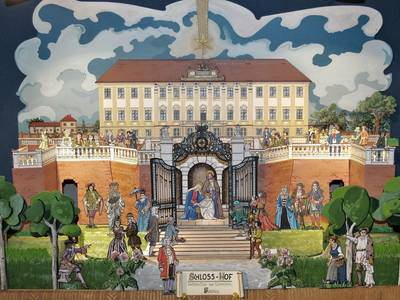 Papierkrippe Schloss Hof, Fritz Kreiner, Pollaschak Haus