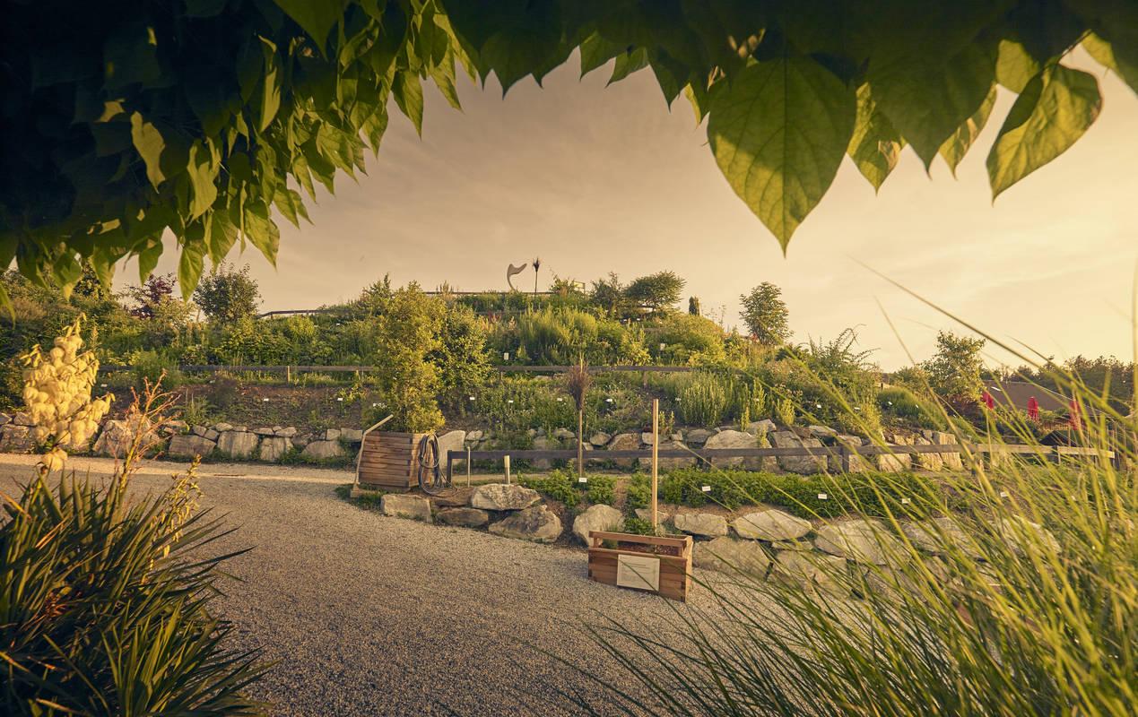 Kräuterspirale in den Kittenberger Erlebnisgärten