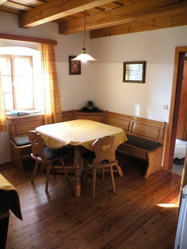 Wohnküche in der Ferienwohnung Ziegelstadel