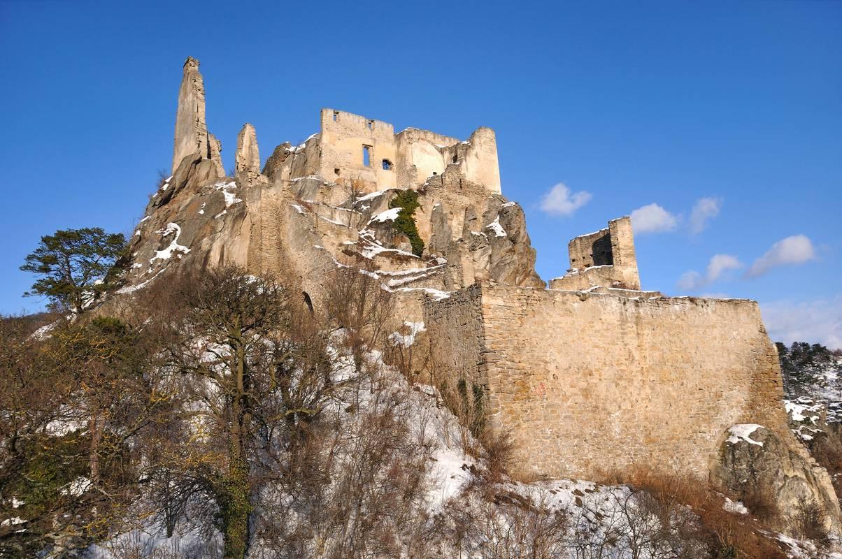 Ruine Dürnstein im Winter
