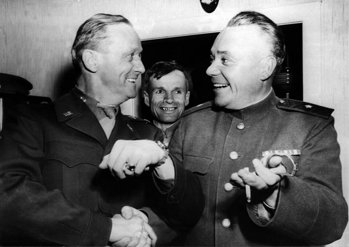 General Stanley Reinhart und General Dmitri Dritschkin am 08.05.1945 in Erlauf