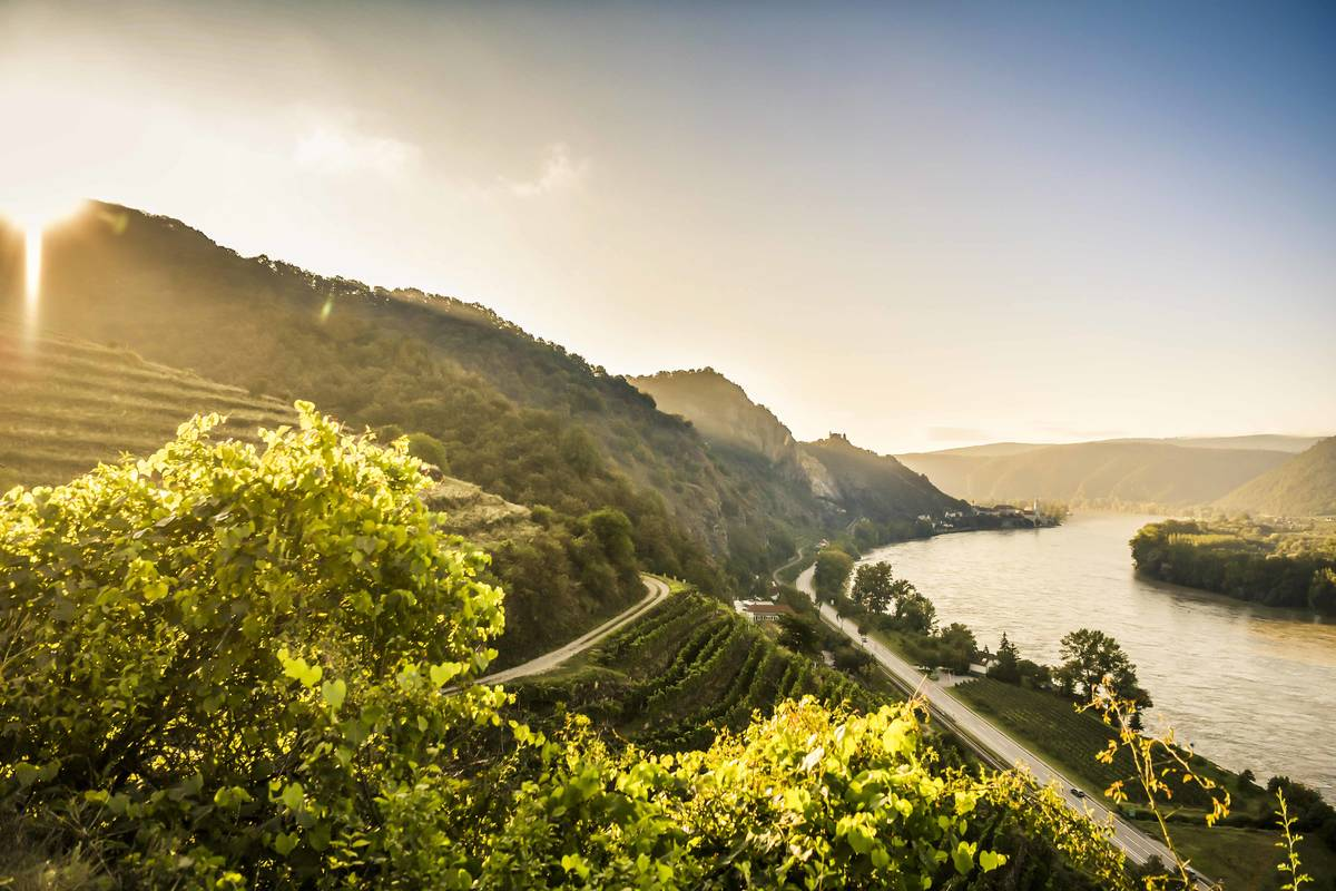 Donauverlauf bis Dürnstein