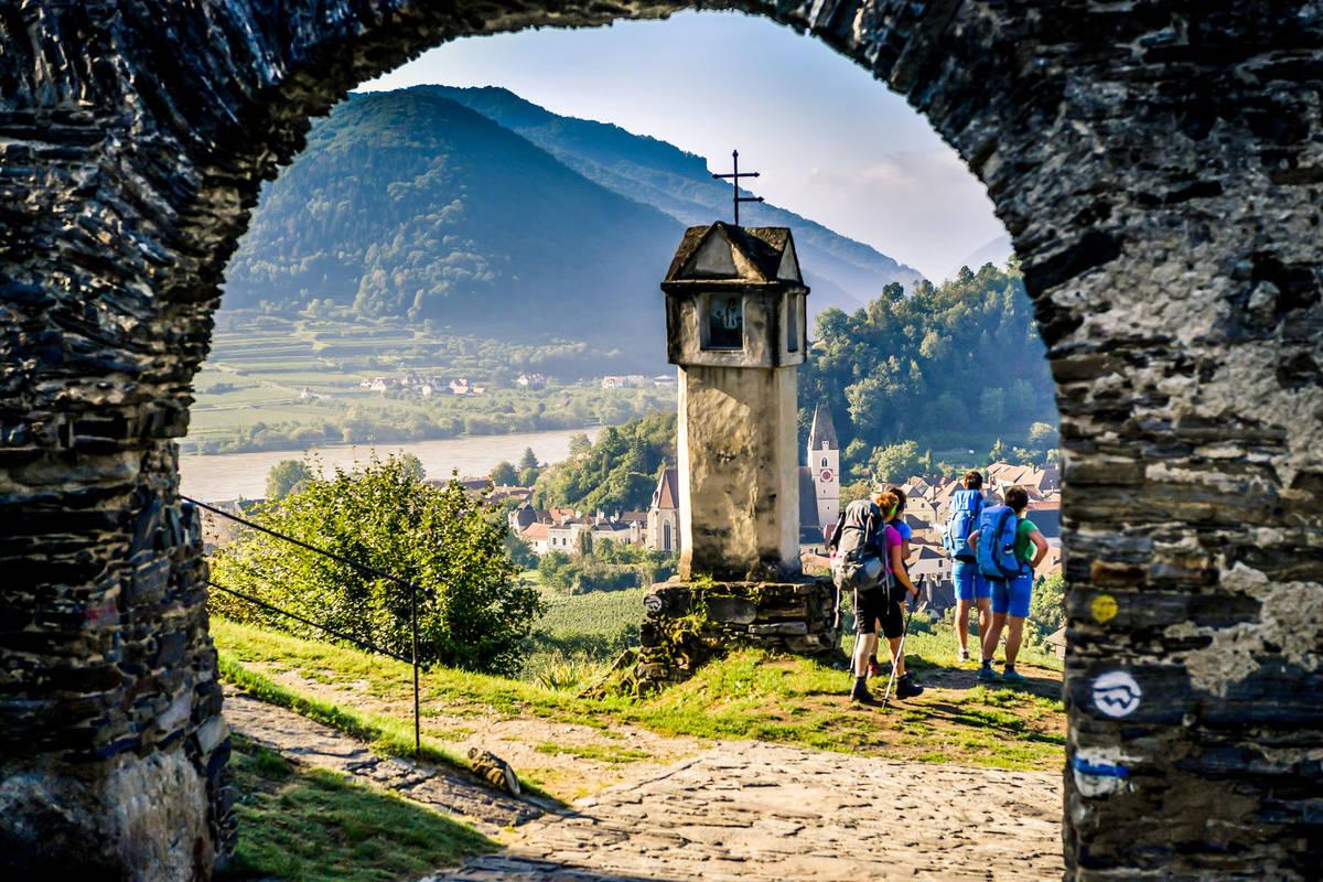 Aussicht vom Roten Tor in Spitz