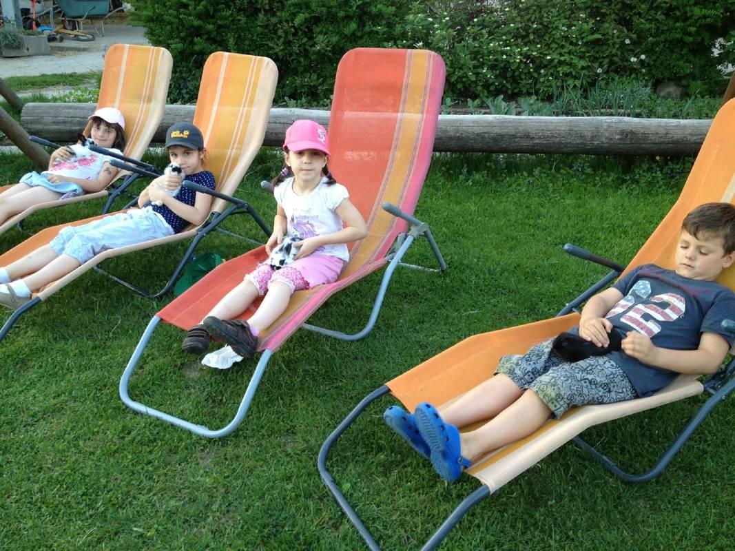 Kerndlerhof Liegestühle Kinder