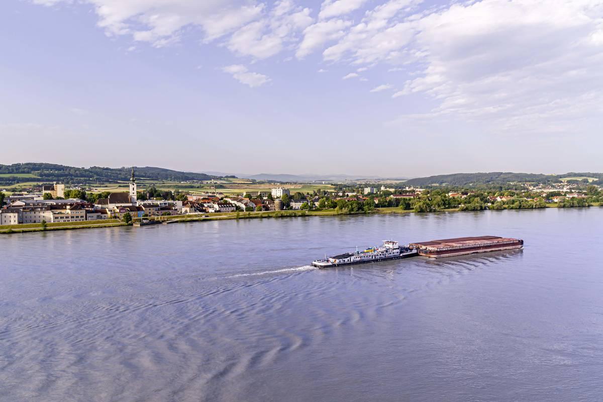 Pöchlarn mit Donau