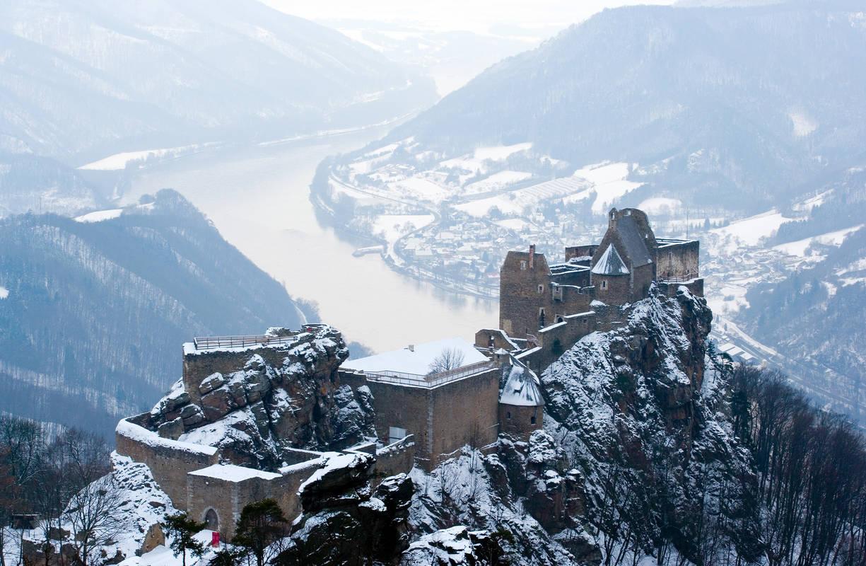 Ruine Aggstein im Winter