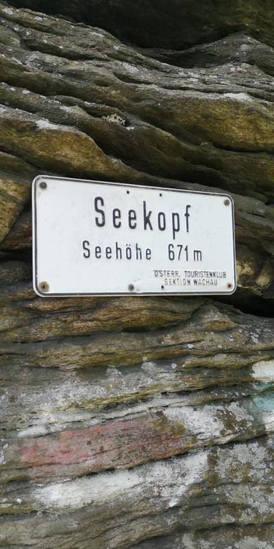 Tafel am Seekopf