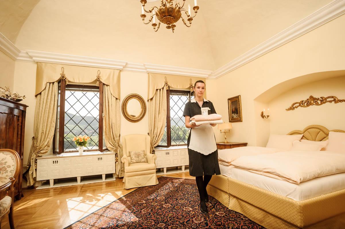 Gästezimmer mit Donaublick