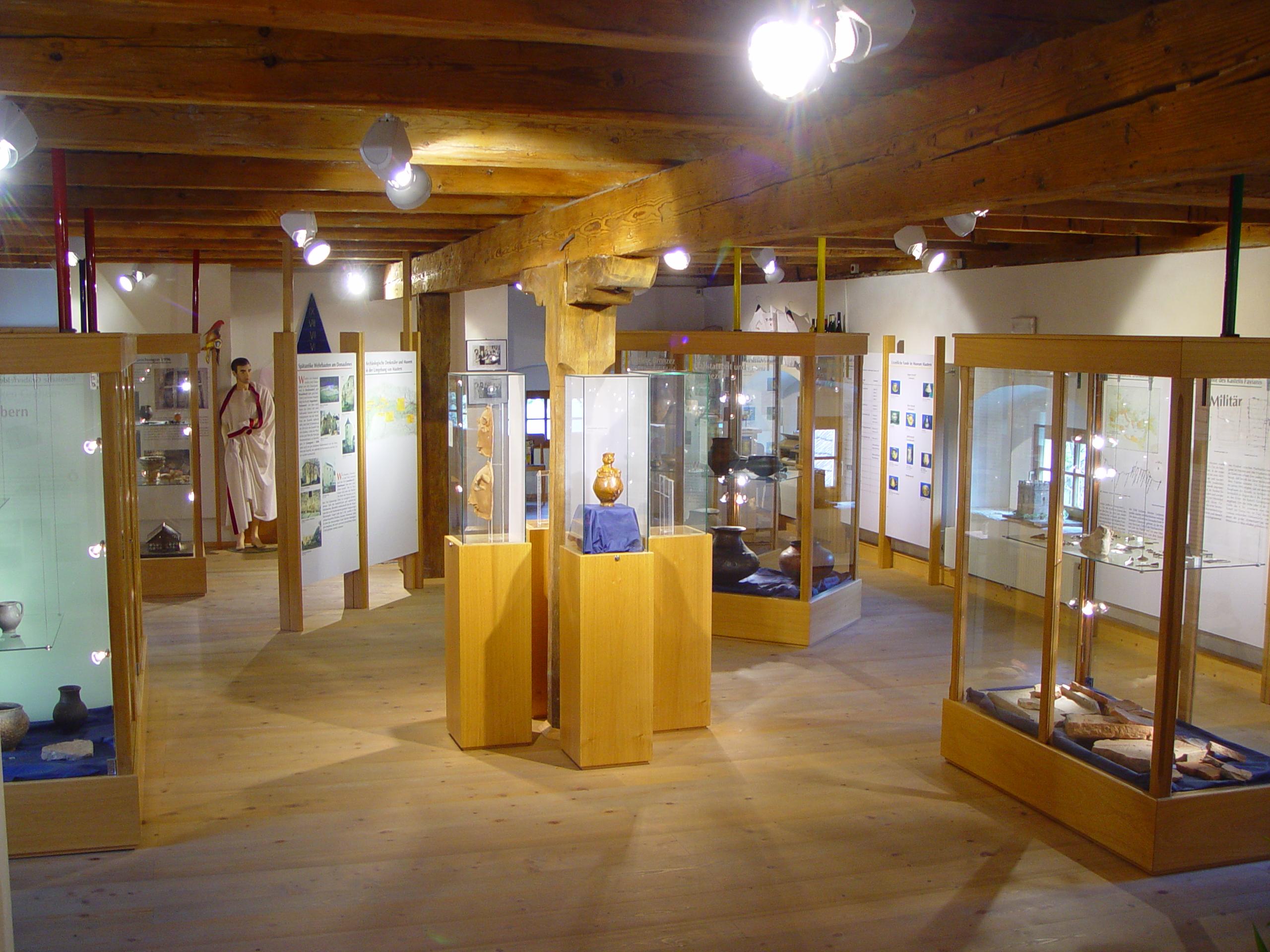 Ausstellungsraum im Römermuseum Mautern in der Wachau