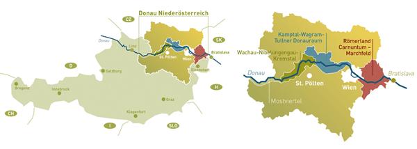 Wachau Karte.Anreise Wachau Nibelungengau Kremstal