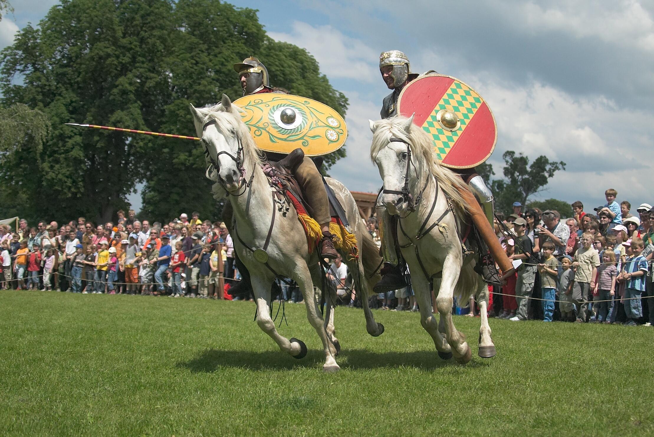 Römische Reiter beim Römerfest